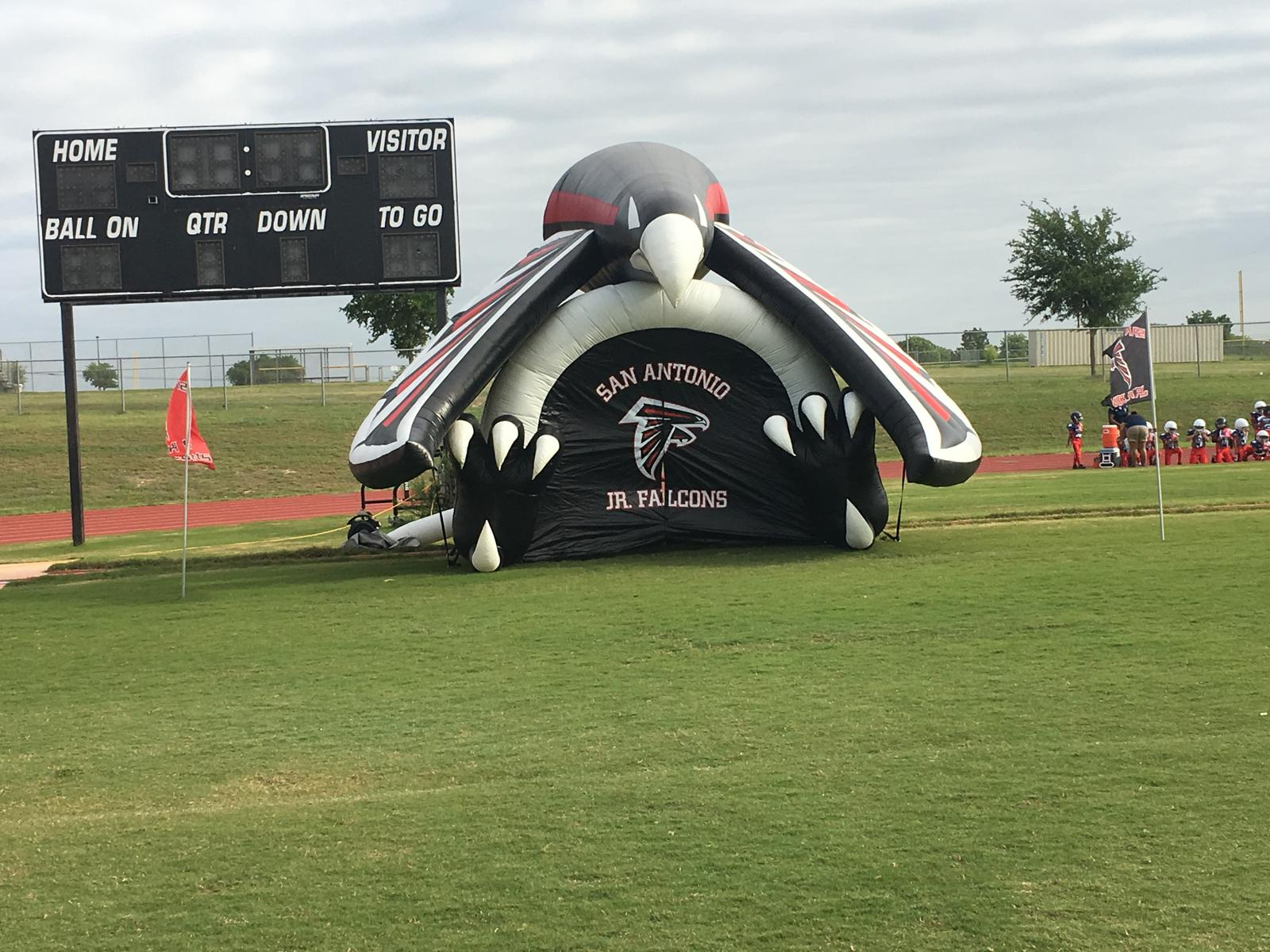 Sa Jr Falcons Inflatable breakthrough banner